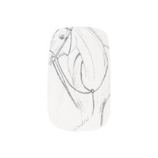 Horse art minx nail wraps