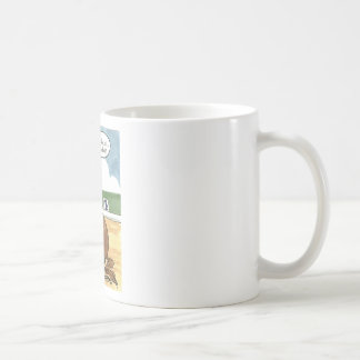 Horse art ON THE BIT now what Classic White Coffee Mug