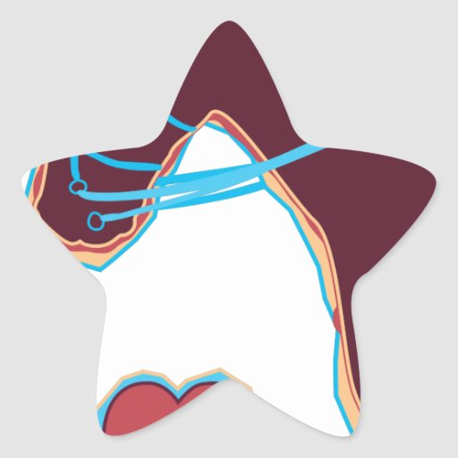 Horse Art Star Stickers