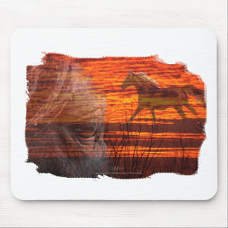 Horse Art:   Wildfire Mouse Pad