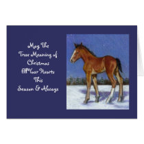 HORSE ARTWORK: TRUE MEANING: CHRISTMAS CARD
