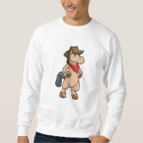 Horse as Cowboy Sweatshirt