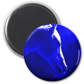 Horse At Night - Horse In Moonlight Magnet