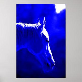 Horse At Night - Horse In Moonlight Print