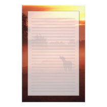 Horse at sunrise stationery