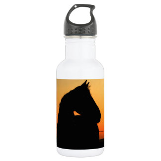 Horse at sunset 18oz water bottle