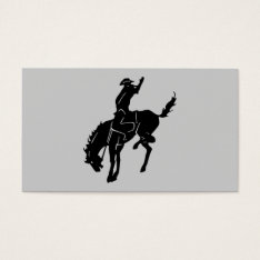 Horse At The Rodeo Business Card at Zazzle