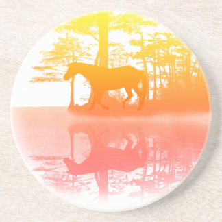 Horse At Twilight Drink Coaster