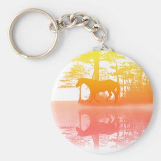 Horse At Twilight Keychain