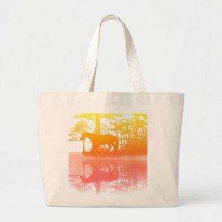 Horse At Twilight Large Tote Bag
