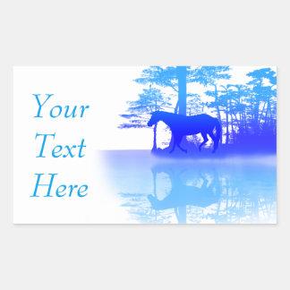 Horse At Twilight Rectangular Sticker