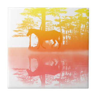 Horse At Twilight Tile