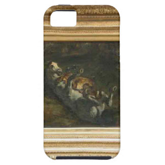 Horse Attacked by Lioness by Eugene Delacroix iPhone SE/5/5s Case