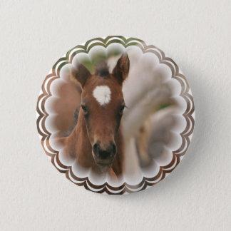 Horse Baby Round Button