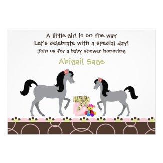 Horse Baby Shower Invitation for Girls