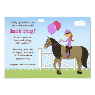 Horse Back Riding Birthday Party Invitation