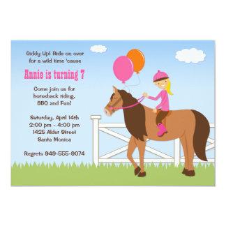 Horse Back Riding Birthday Party Invitation
