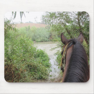 Horse back river mouse pad