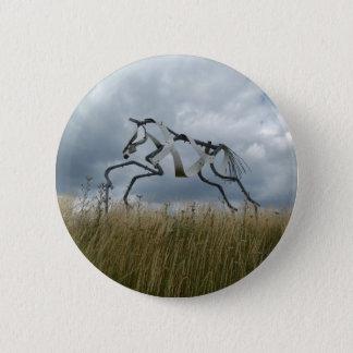 Horse Badge Button