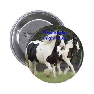 Horse badge pins