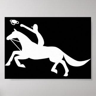 horse ball icon poster