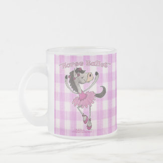Horse Ballet on Pink Gingham Coffee Mugs