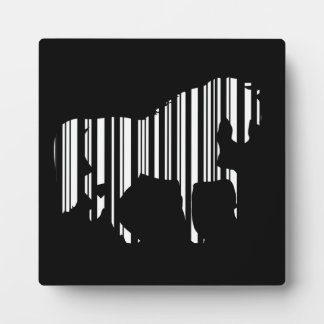 HORSE BAR CODE Zebra Barcode Pattern Design Plaque