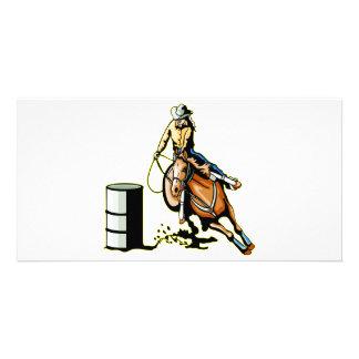 Horse Barrel Racing Card