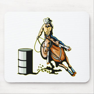 Horse Barrel Racing Mouse Pad