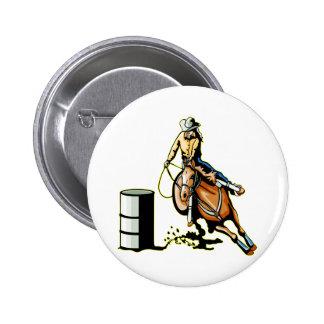 Horse Barrel Racing Pinback Button