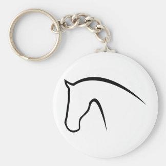 horse basic round button keychain