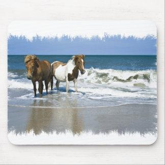 Horse Beach Mouse Pad