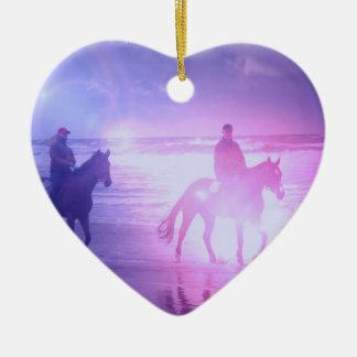 Horse Beach Walk Ornament