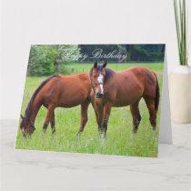 Horse beautiful custom horses birthday card