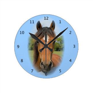 Horse beautiful photo chestnut head portrait wall clocks
