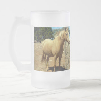 Horse_Beauty,(5)_Big_Frosted_Glass_Beer_Mug Frosted Glass Beer Mug