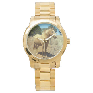 Horse-Beauty,(5)_Ladies_Large_Unisex_Gold_Watch Wrist Watch