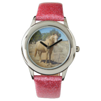 Horse Beauty, Girls Glitter Watch. Wristwatch