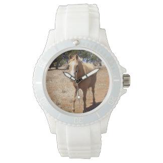 Horse_Beauty,Ladies_White_Sports_Watch. Wristwatch