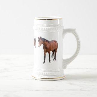 Horse Beer Stein