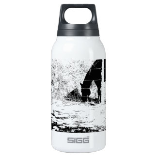 Horse Behind Fencepost in Pen and Ink 10 Oz Insulated SIGG Thermos Water Bottle