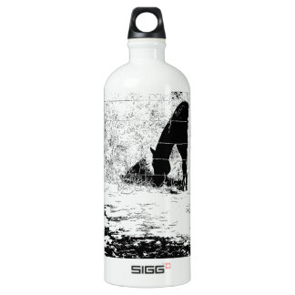 Horse Behind Fencepost in Pen and Ink SIGG Traveler 1.0L Water Bottle