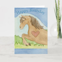 Horse birthday card