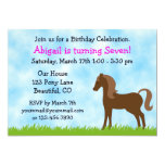 "Horse Birthday Invitation for Girls 5"" X 7"" Invitation Card"