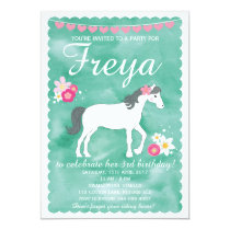Horse Birthday Invitation, Pony Party Invitation