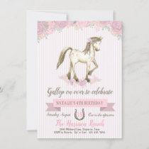 Horse Birthday Party Girls Pony Party Invitation