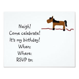 Horse Birthday Party Invitation