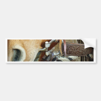 Horse Bit & Strap on Horse Bumper Sticker