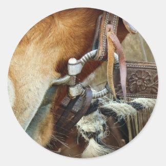 Horse Bit & Strap on Horse Classic Round Sticker