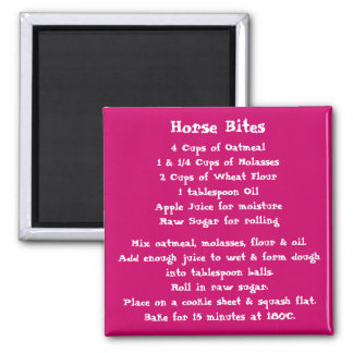 Horse Bites Recipe Magnet color